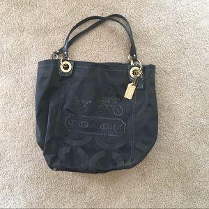 Coach black weekend tote bag